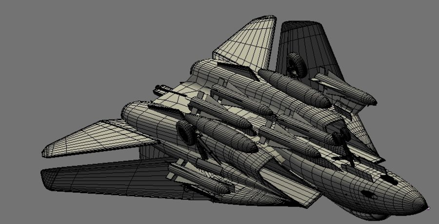F-14A Tomcat Wolfpack royalty-free 3d model - Preview no. 22