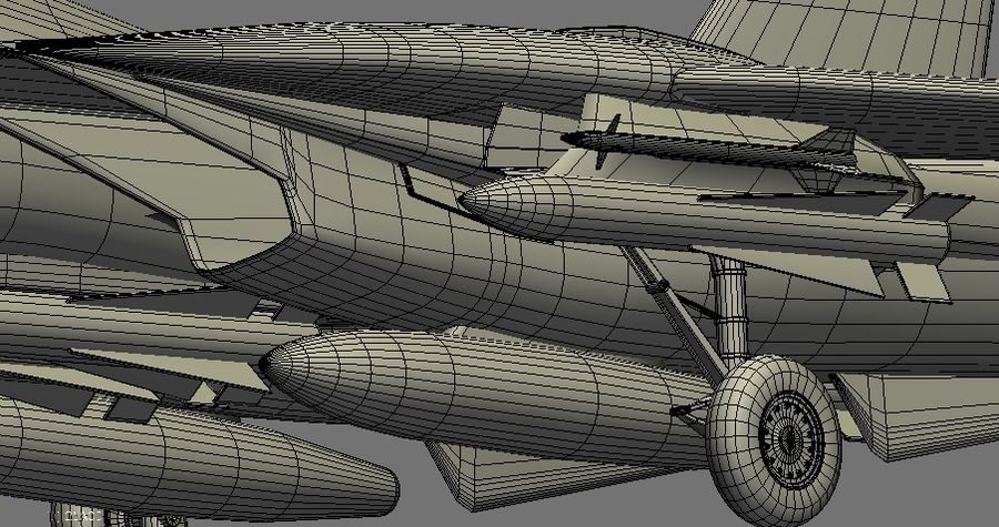 F-14A Tomcat Wolfpack royalty-free 3d model - Preview no. 24