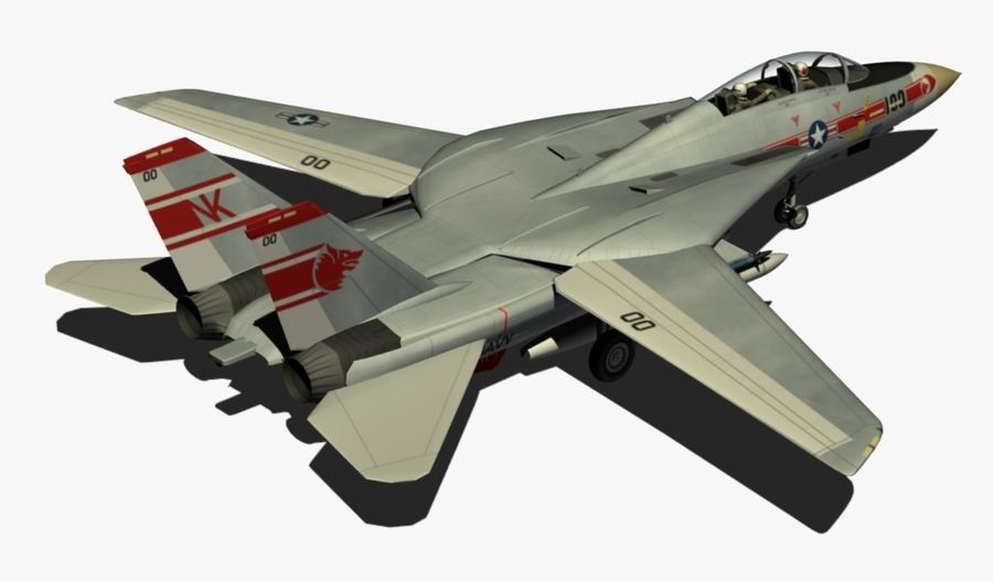 F-14A Tomcat Wolfpack royalty-free 3d model - Preview no. 6
