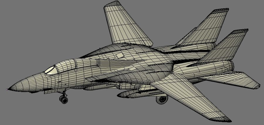 F-14A Tomcat Wolfpack royalty-free 3d model - Preview no. 20