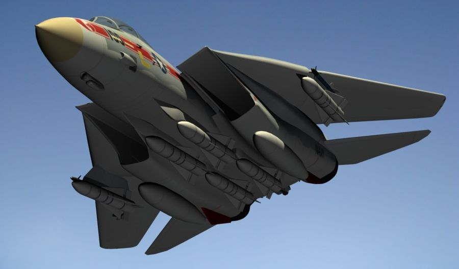 F-14A Tomcat Wolfpack royalty-free 3d model - Preview no. 18