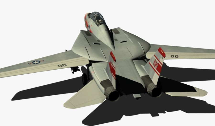 F-14A Tomcat Wolfpack royalty-free 3d model - Preview no. 4