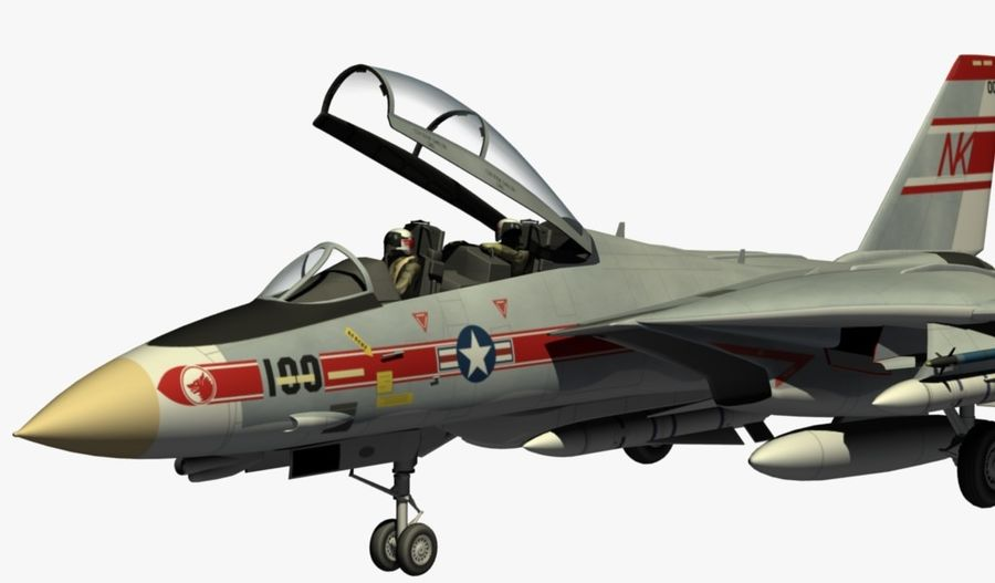 F-14A Tomcat Wolfpack royalty-free 3d model - Preview no. 16