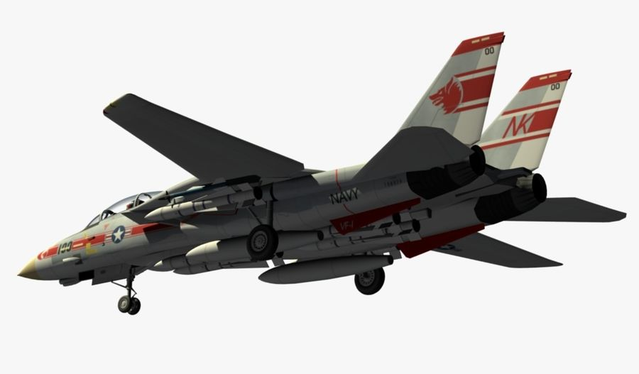 F-14A Tomcat Wolfpack royalty-free 3d model - Preview no. 11