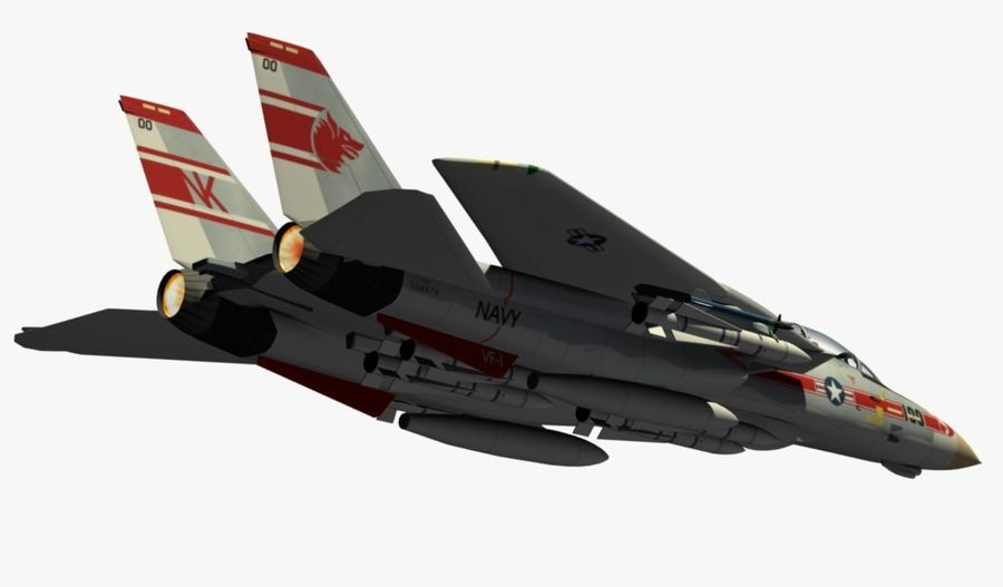 F-14A Tomcat Wolfpack royalty-free 3d model - Preview no. 10