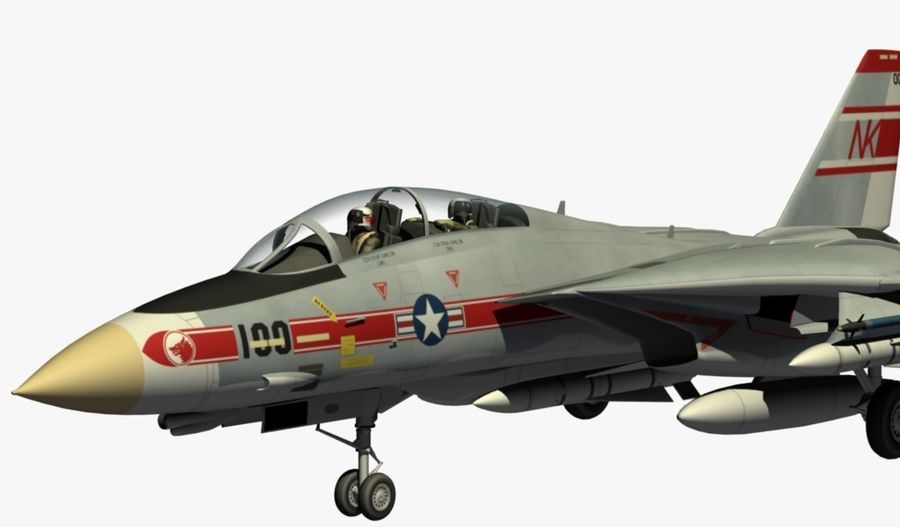 F-14A Tomcat Wolfpack royalty-free 3d model - Preview no. 15