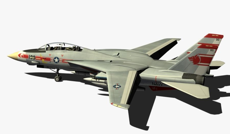 F-14A Tomcat Wolfpack royalty-free 3d model - Preview no. 3