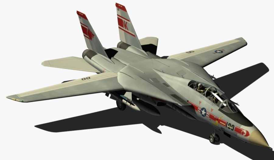 F-14A Tomcat Wolfpack royalty-free 3d model - Preview no. 7
