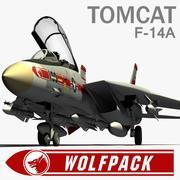 F-14A Tomcat Wolfpack 3d model
