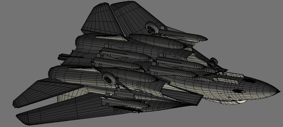 F-14A Tomcat Wolfpack royalty-free 3d model - Preview no. 21