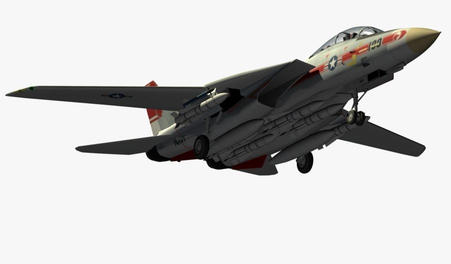 F-14A Tomcat Wolfpack royalty-free 3d model - Preview no. 8