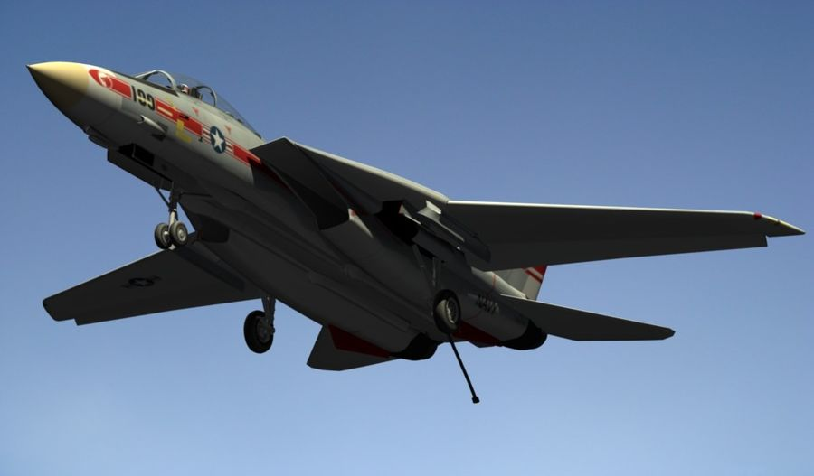 F-14A Tomcat Wolfpack royalty-free 3d model - Preview no. 19