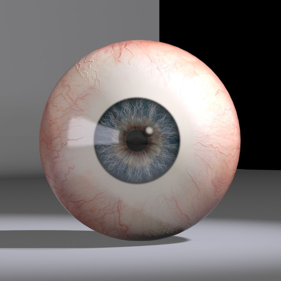 Eyeball royalty-free 3d model - Preview no. 3