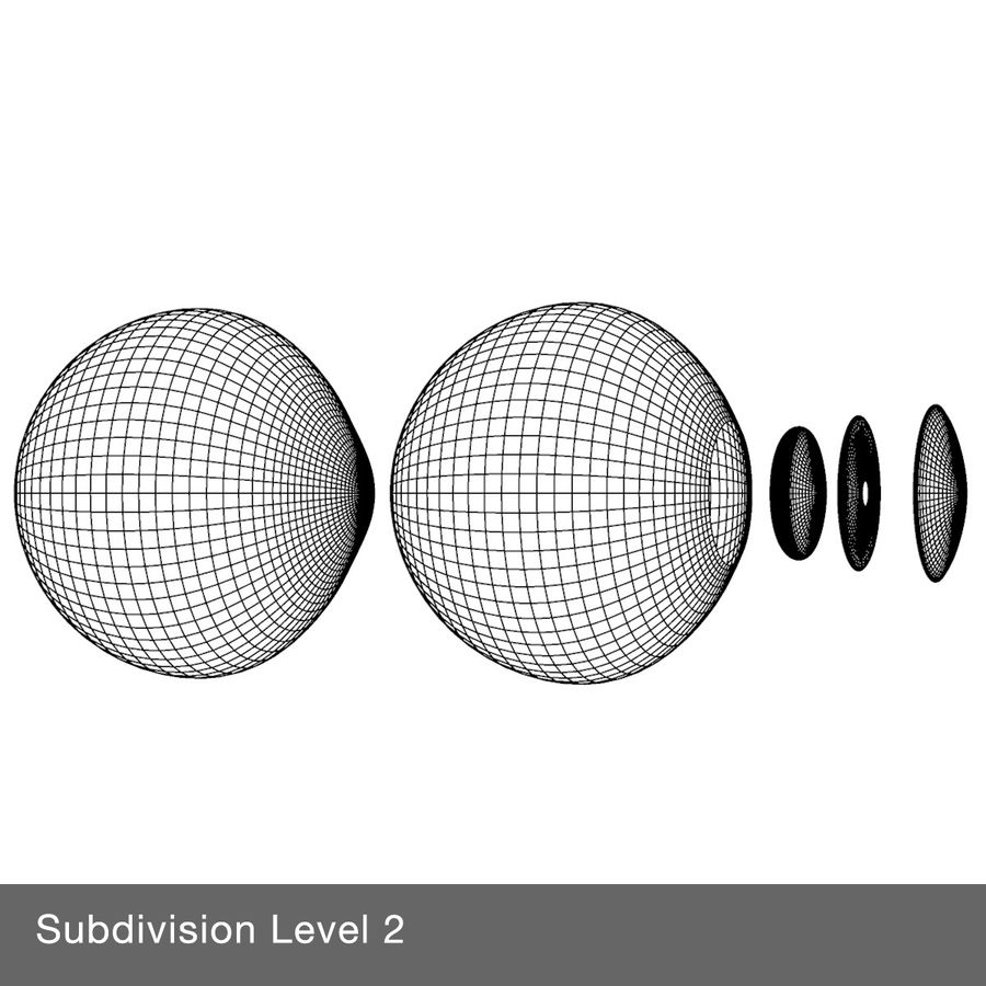 Eyeball royalty-free 3d model - Preview no. 10