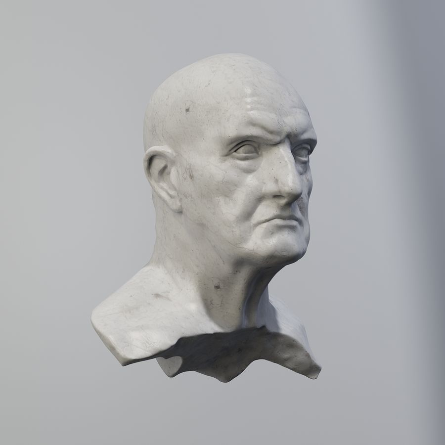 Roman Bust royalty-free 3d model - Preview no. 4