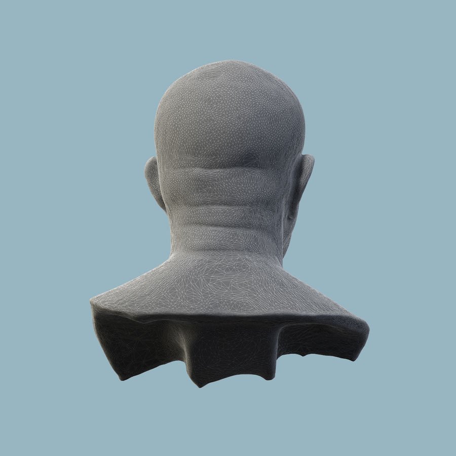 Roman Bust royalty-free 3d model - Preview no. 7
