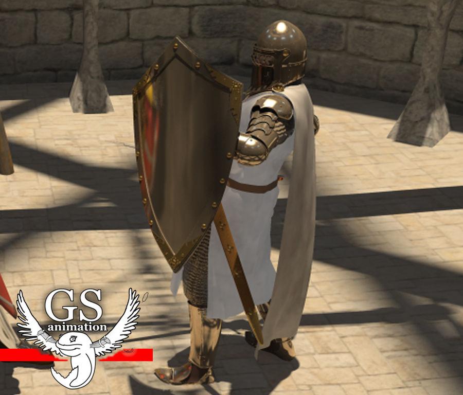 Middeleeuwse ridder opgetuigd royalty-free 3d model - Preview no. 5