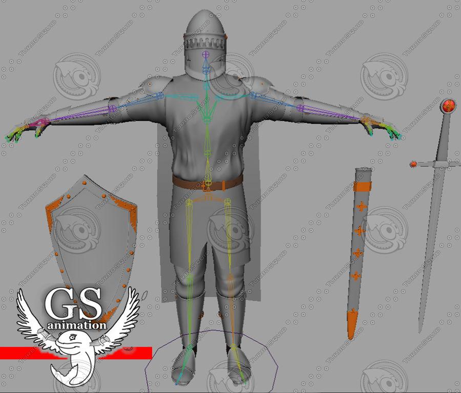 Middeleeuwse ridder opgetuigd royalty-free 3d model - Preview no. 3