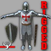 Średniowieczny rycerz uzbrojony 3d model