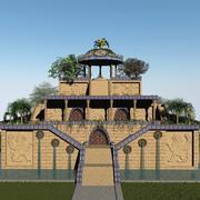 Wiszące Ogrody Babilonu 3d model