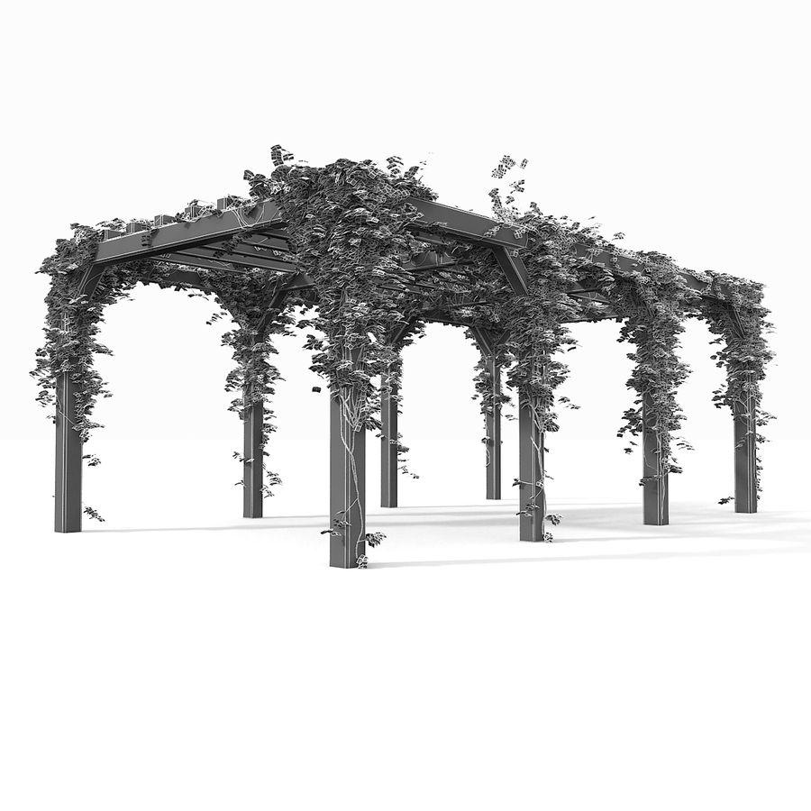 アイビー植物と木のパーゴラ royalty-free 3d model - Preview no. 18