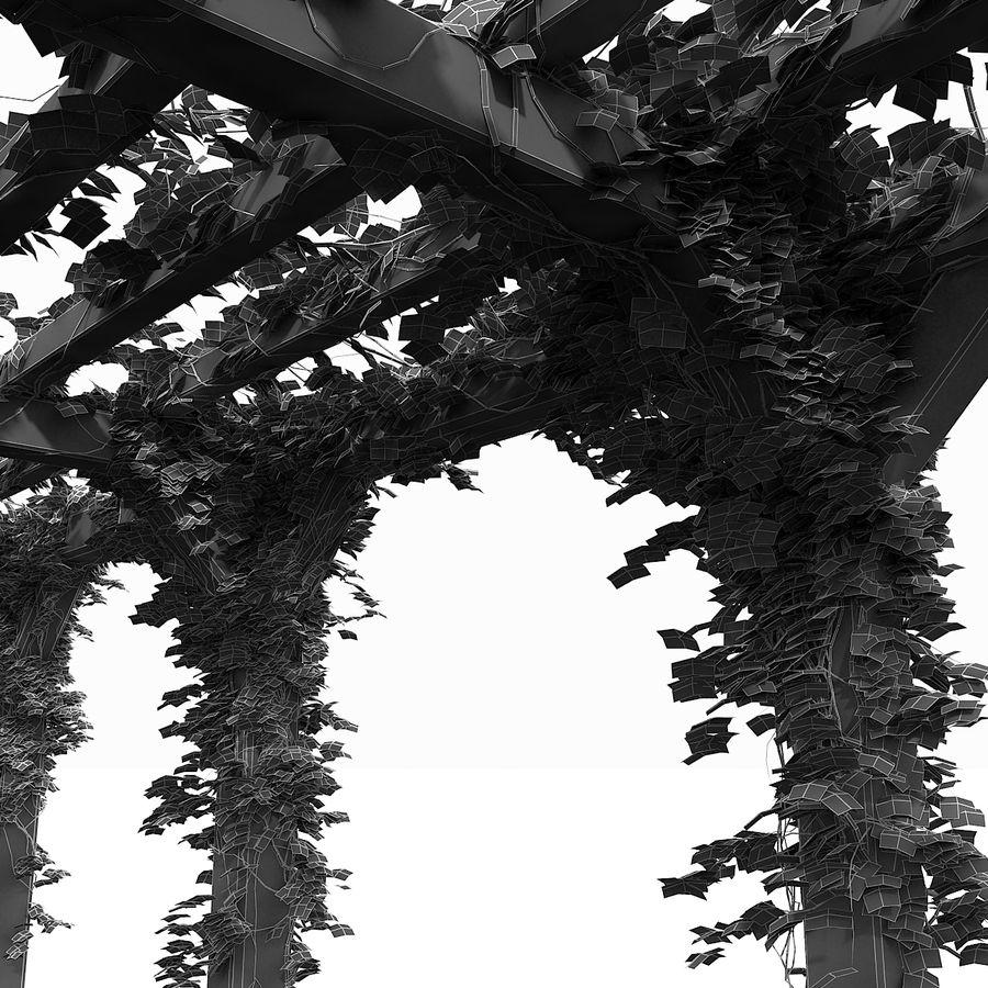 アイビー植物と木のパーゴラ royalty-free 3d model - Preview no. 21