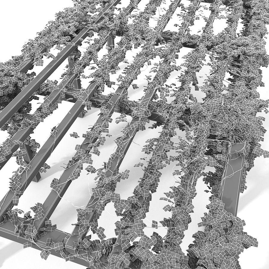 アイビー植物と木のパーゴラ royalty-free 3d model - Preview no. 20