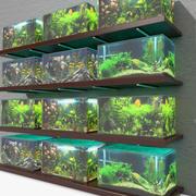 Akvarium hyllor 3d model