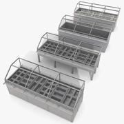 Kantine-Küche-Metallspeicher-Gefrierschrank-Sammlung 3d model