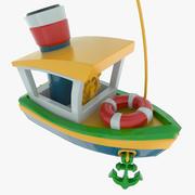 おもちゃの船 3d model