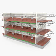 Hardware Store Shelves Stand 3d model