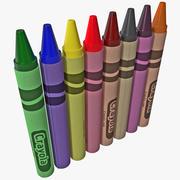 Crayons 3d model