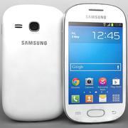 三星Galaxy Fame S6810 Lite白色 3d model