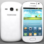 三星Galaxy Fame S6810白色 3d model