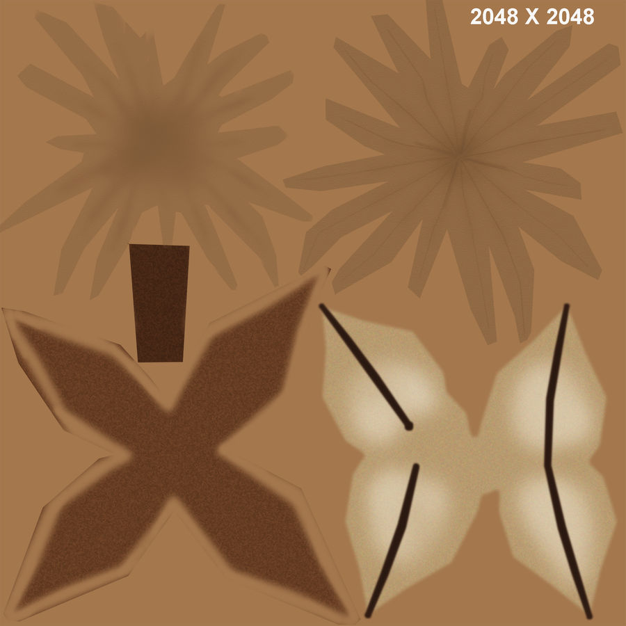 Gossypium herbaceum_ (Bawełna) royalty-free 3d model - Preview no. 6