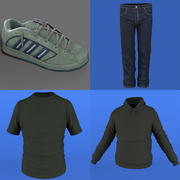 Mans Kläder Pack 1 3d model