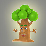 Cartoon-Baum 3d model