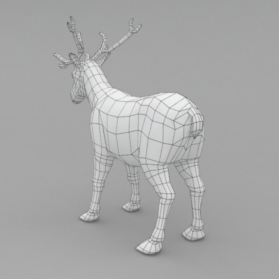 Reindeer Animated royalty-free 3d model - Preview no. 9