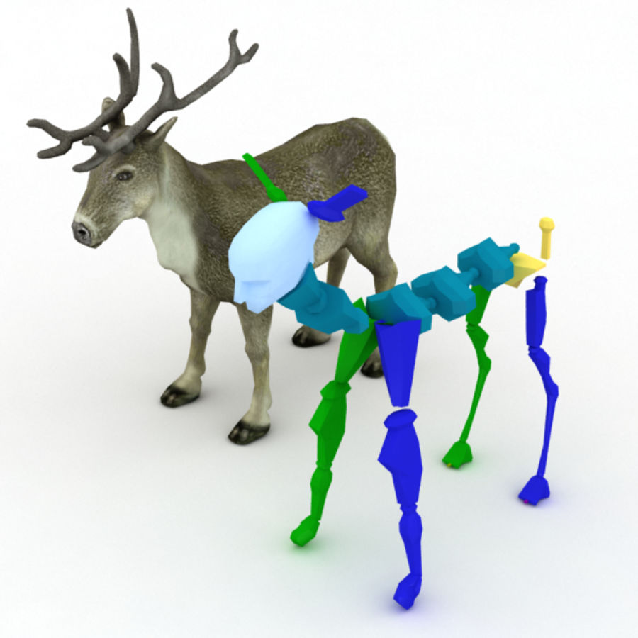 Reindeer Animated royalty-free 3d model - Preview no. 7