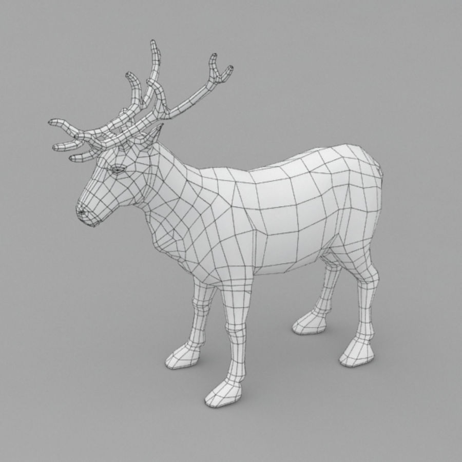 Reindeer Animated royalty-free 3d model - Preview no. 8