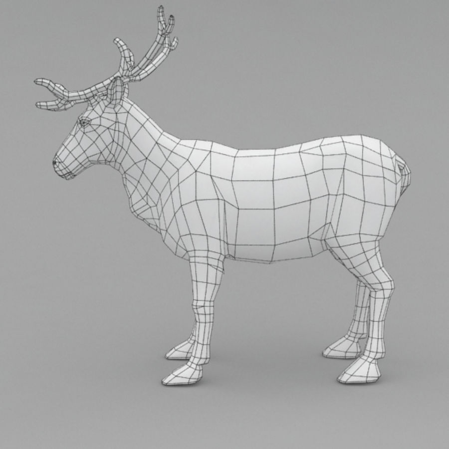 Reindeer Animated royalty-free 3d model - Preview no. 11