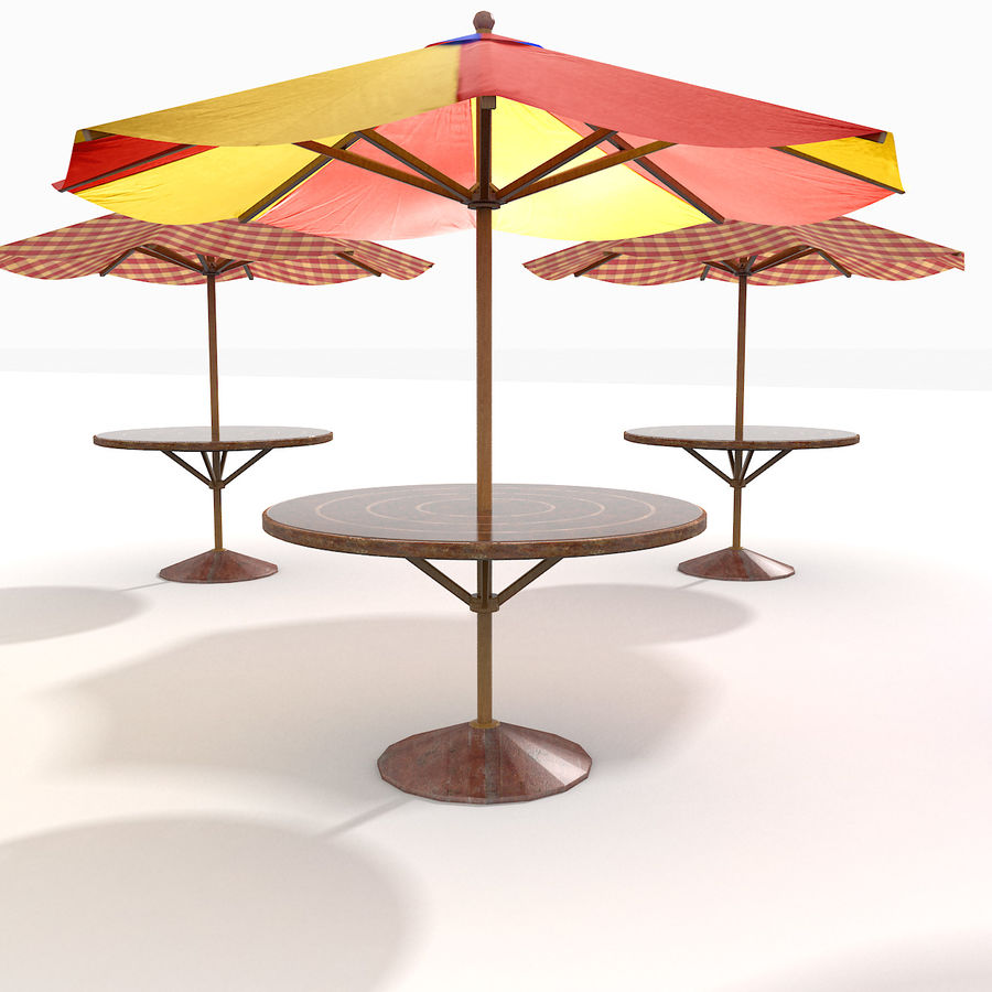 Beach Sun Umbrella royalty-free 3d model - Preview no. 11