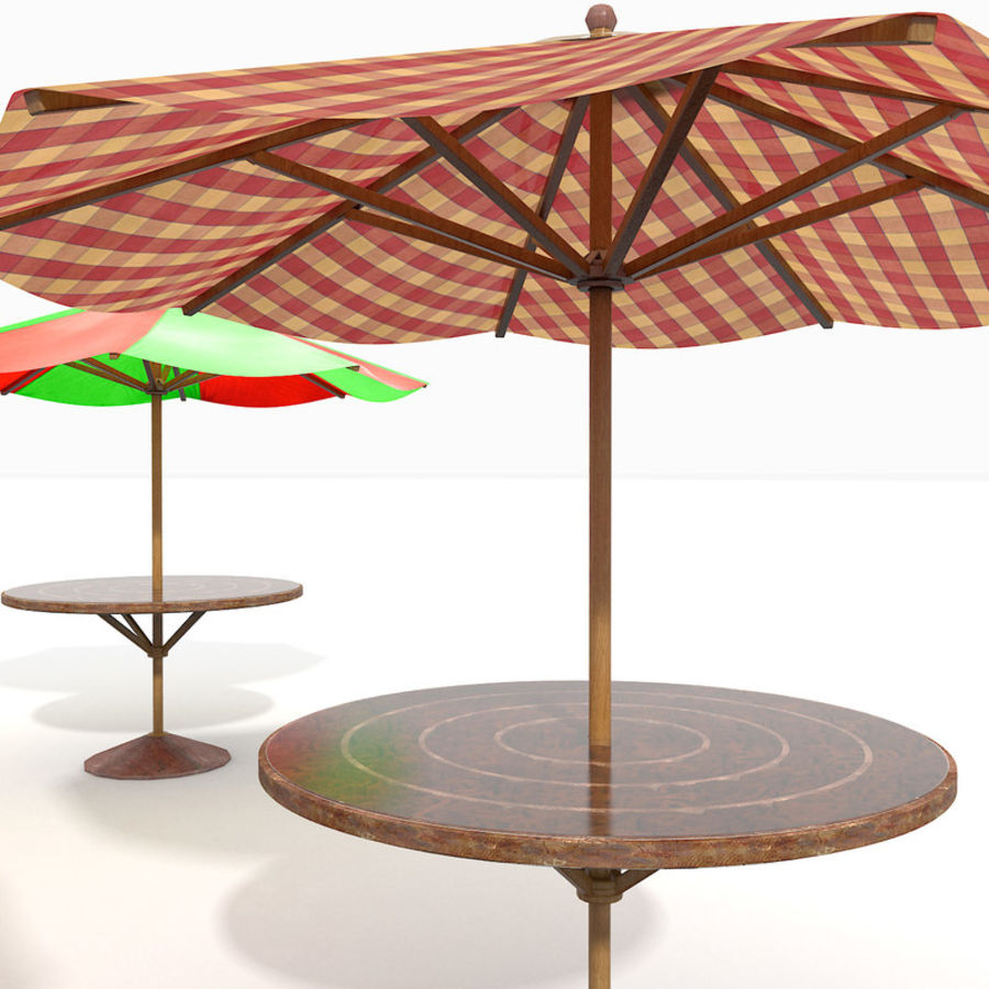 Beach Sun Umbrella royalty-free 3d model - Preview no. 16