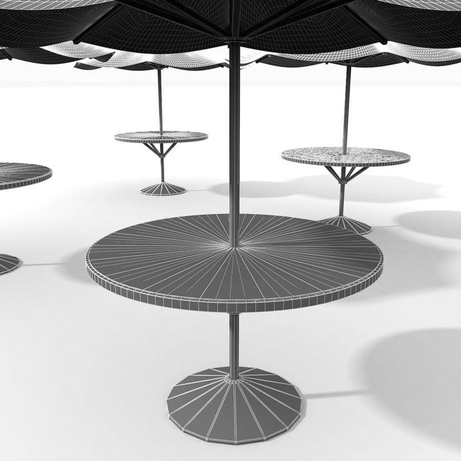 Beach Sun Umbrella royalty-free 3d model - Preview no. 18