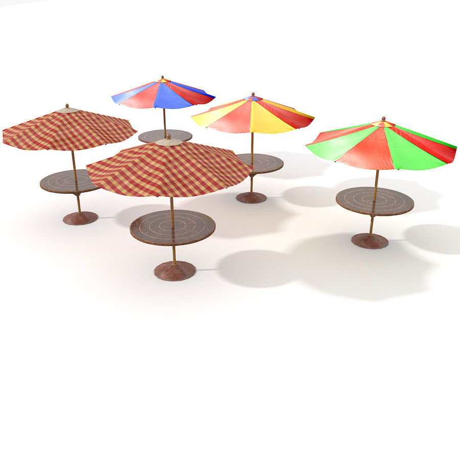 Beach Sun Umbrella royalty-free 3d model - Preview no. 7