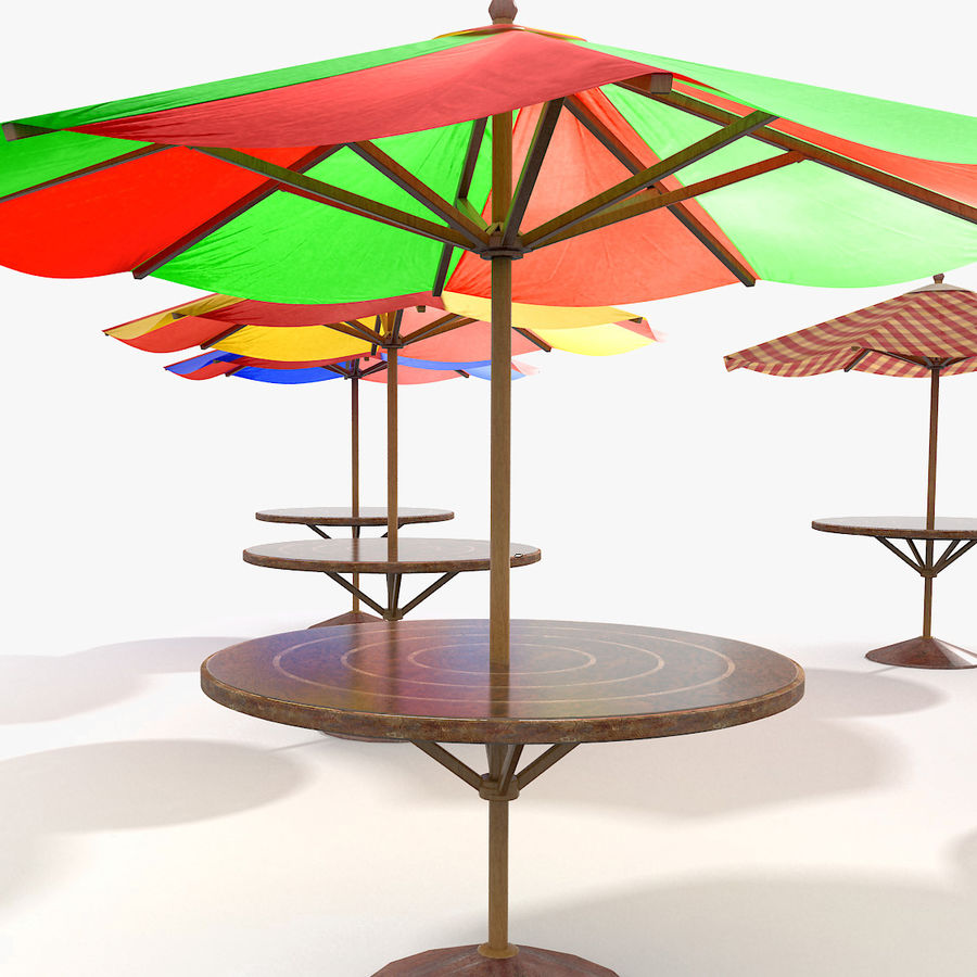 Beach Sun Umbrella royalty-free 3d model - Preview no. 1