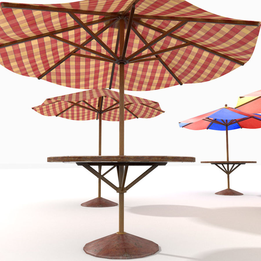 Beach Sun Umbrella royalty-free 3d model - Preview no. 12