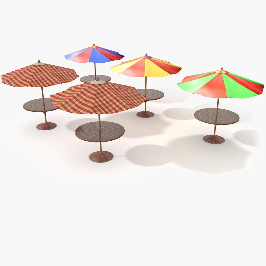 Beach Sun Umbrella royalty-free 3d model - Preview no. 2