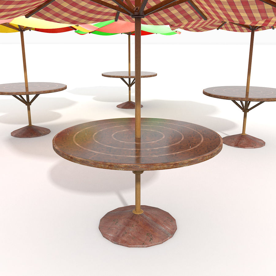 Beach Sun Umbrella royalty-free 3d model - Preview no. 4