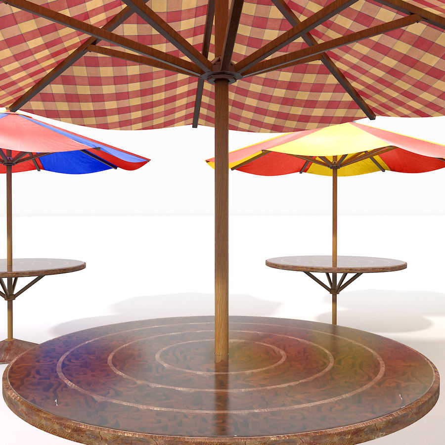 Beach Sun Umbrella royalty-free 3d model - Preview no. 6